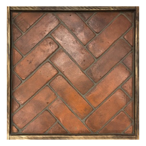 brick slip floor tiles herringbone hand made terracotta Handmade Clay Tiles