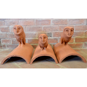 Bespoke owl ridge tile finials spicer tiles Handmade Clay Tiles