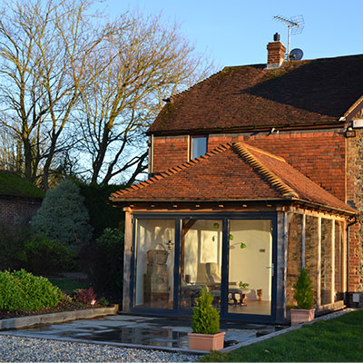 michael miller testimonial for spicertiles photo of freshly laid roof tiles on house extension.